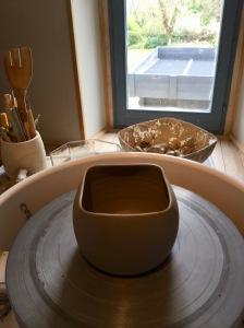 création d'un cylindre carré en poterie