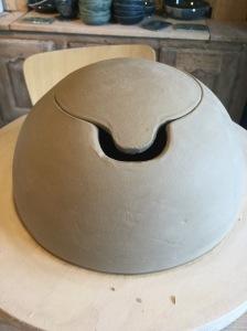 créer une boite sphérique en poterie