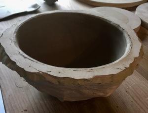 Poterie et travail au moule en plâtre