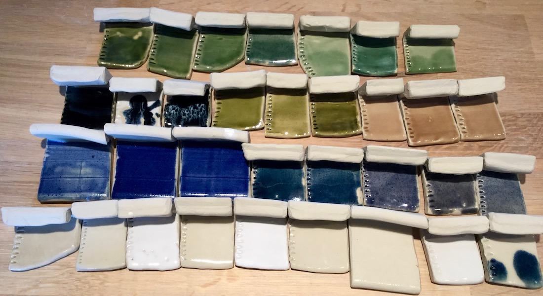 Poterie Toramur grès test couleur
