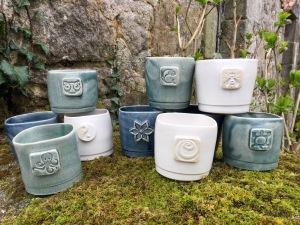 gobelets en céramique, verres artisanaux