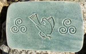plaque décorative avec motifs celtes