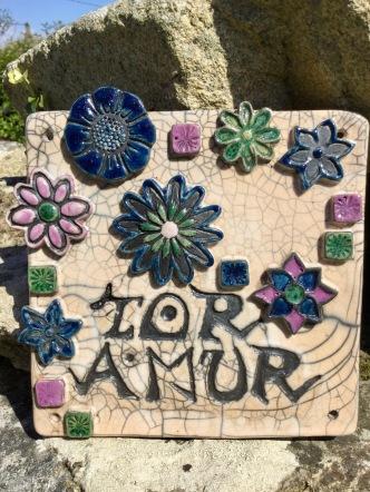 plaque décorative de poterie toramur