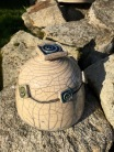 Boite artisanale en raku bicolore