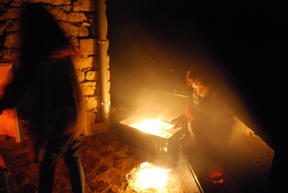 Poterie Toramur Raku cuisson nocturne