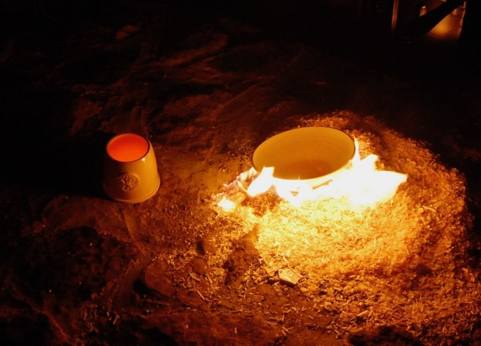 Poterie Toramur Raku en feu