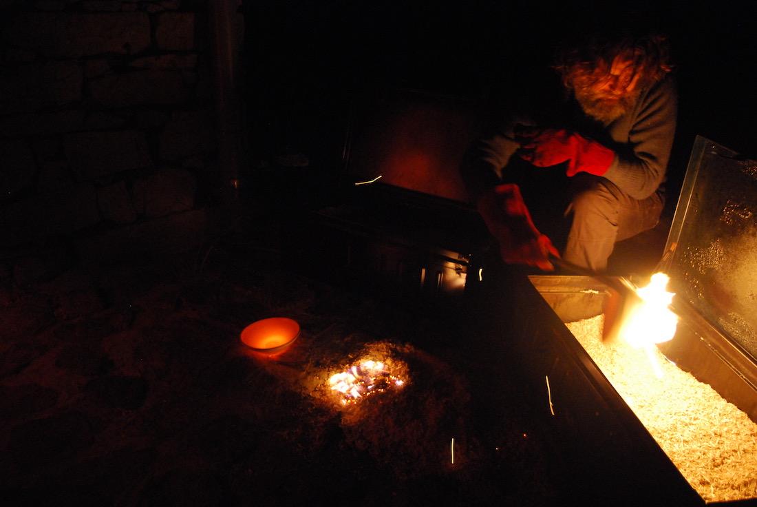 Poterie Toramur Raku en flammes
