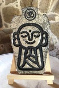 Jizo et Aum, décoration raku de jardin