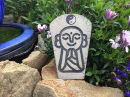 raku Jizo Yin Yang décoration de jardin