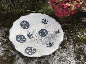 plat vide poche en raku décoré