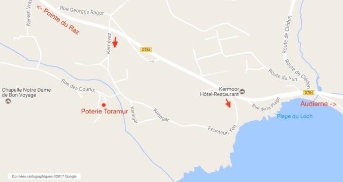 Poterie Toramur Plan d'accès