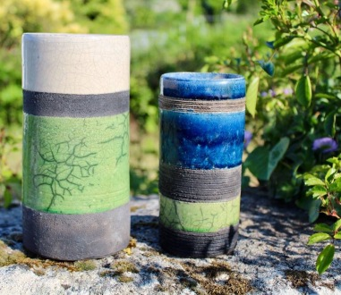 Poterie Toramur 2 vases tubes