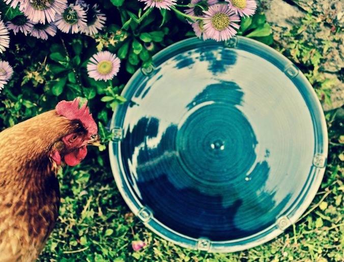 Poterie Toramur assiette et poule