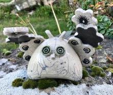 poterie toramur chouette raku