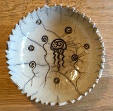 Poterie Toramur coupelle raku meduse