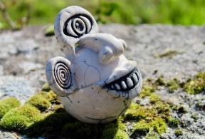Poterie Toramur gargouille sourire raku