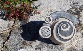 Poterie Toramur Gargouille spirale raku