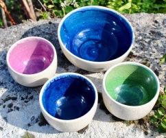 Poterie Toramur raku bols bicolores