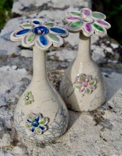 Poterie Toramur raku vases fleurs