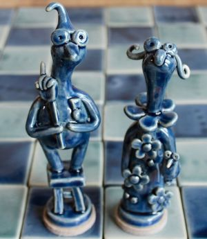 poterie Toramur roi reine bleus